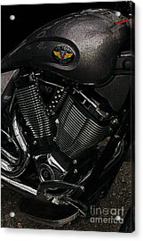 Victory Motorcycle Acrylic Print by Diane E Berry