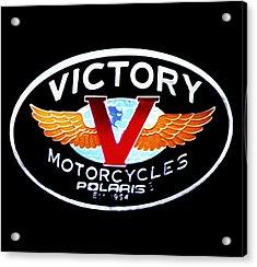 Victory Motorcycles Emblem Acrylic Print