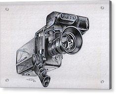 Video Camera, Vintage Acrylic Print