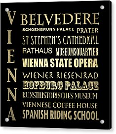 Vienna Austria Famous Landmarks Acrylic Print