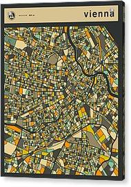 Vienna City Map Acrylic Print
