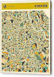 Vienna Map 2 Acrylic Print