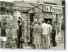 Viennese Newspaper Stand Acrylic Print