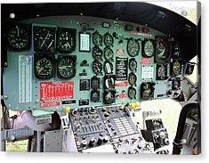 Vietnam Era Helicopter 049 Control Panel 02 Acrylic Print