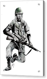 Vietnam Infantry Man Acrylic Print