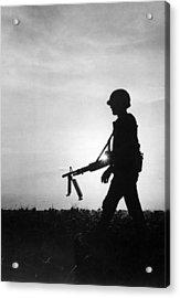 Vietnam Training Exercise Acrylic Print by Underwood Archives
