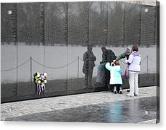 Vietnam Wall Family Acrylic Print