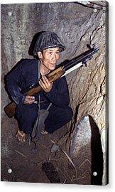 Vietnam War, A Viet Cong, Soldier Acrylic Print by Everett