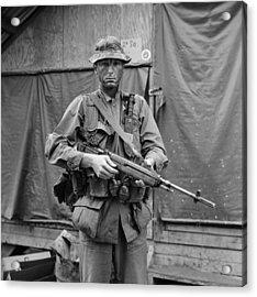 Vietnam War. Us Marine Sergeant Acrylic Print by Everett