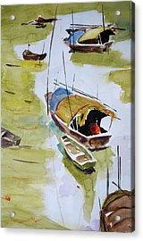 Vietnamese Sampans Acrylic Print