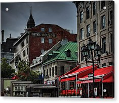 Vieux Montreal 001 Acrylic Print by Lance Vaughn