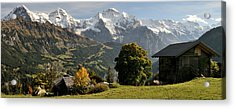 View Across Lauterbrunnen Valley Acrylic Print