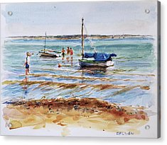 View Across Provincetown Harbor Acrylic Print by Peter Salwen