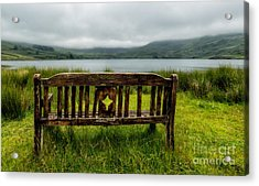 View Across The Lake Acrylic Print by Adrian Evans
