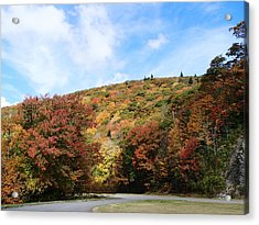View Along The Blue Ridge Parkway In Fall Acrylic Print by Becky Erickson