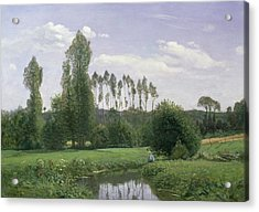 View At Rouelles Acrylic Print by Claude Monet