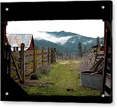 View From A Barn Acrylic Print