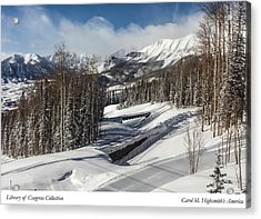 Acrylic Print featuring the photograph View From A Mountain Above Telluride In Colorado by Carol M Highsmith