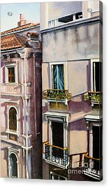 Acrylic Print featuring the painting View From A Venetian Window by Marlene Book