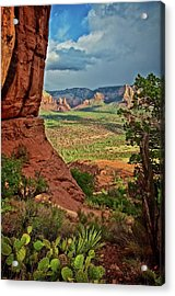 View From A Vortex, Cathedral Rock, Sedona, Arizona Acrylic Print