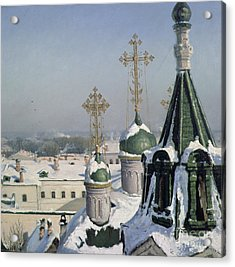 View From A Window Of The Moscow School Of Painting Acrylic Print