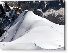 View From Aguille Du Midi Acrylic Print by Aivar Mikko