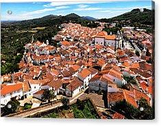Portugal - View Of Castelo De Vide Acrylic Print by Barbara Budzinski
