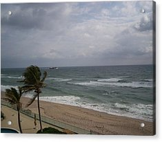 View From Condo Acrylic Print by Karen Thompson