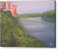 View From Edmund Pettus Bridge Acrylic Print by Patricia Caldwell