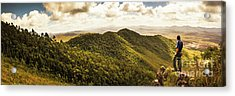 View From Halfway Up Mount Zeehan Acrylic Print