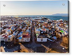 Acrylic Print featuring the photograph View From Hallgrimskirka by Wade Courtney