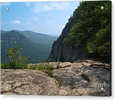 View From Hickory Nut Gorge Nc Acrylic Print by Anna Lisa Yoder