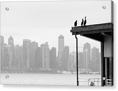 View From Londsdale Quay Acrylic Print by Barbara  White