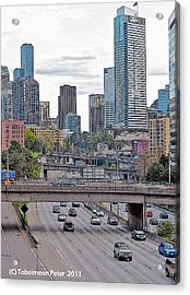 View From Melrose Ave Acrylic Print by Tobeimean Peter
