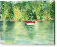 Acrylic Print featuring the painting View From Millbay Ferry by Vicki  Housel