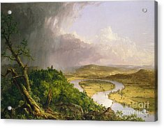View From Mount Holyoke, Northampton, Massachusetts, After A Thunderstorm The Oxbow, 1836 Acrylic Print