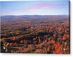 View From Mount Tom In Easthampton, Ma Acrylic Print