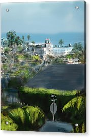 View From My Studio Acrylic Print by Russell Pierce