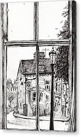 View From Old Hall Hotel Acrylic Print by Vincent Alexander Booth