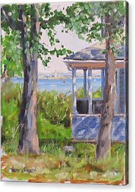View From Pointe Allerton Acrylic Print by Laura Lee Zanghetti