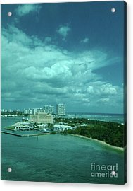 View From Port Everglades Acrylic Print by Judy Hall-Folde