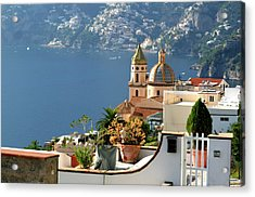 View From Praiano To Positano Acrylic Print