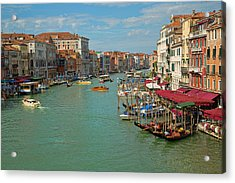 Acrylic Print featuring the photograph View From Rialto Bridge by Sharon Jones