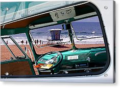 View From The Bus Acrylic Print by Ron Regalado
