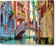 View From The Canal Acrylic Print