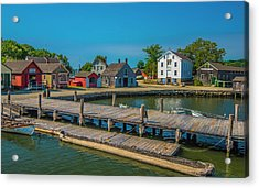 Acrylic Print featuring the photograph View From The Dock by Steven Ainsworth
