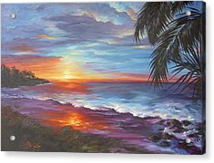 Acrylic Print featuring the painting View From The Hammock  by Dina Dargo