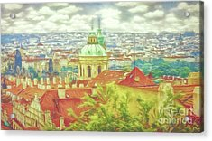 View From The High Ground - Prague  Acrylic Print