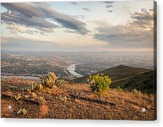 View From The Hill Acrylic Print by Brad Stinson