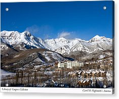 Acrylic Print featuring the photograph View From The Mountain Above Telluride by Carol M Highsmith